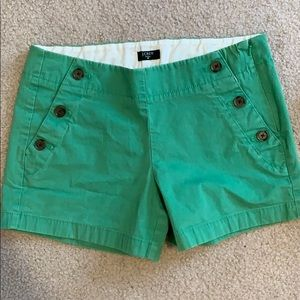 Green J Crew Shorts with Buttons